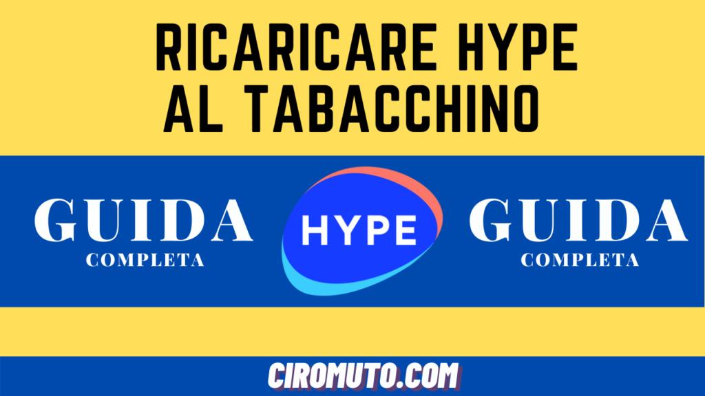 Hype si può ricaricare al tabacchino