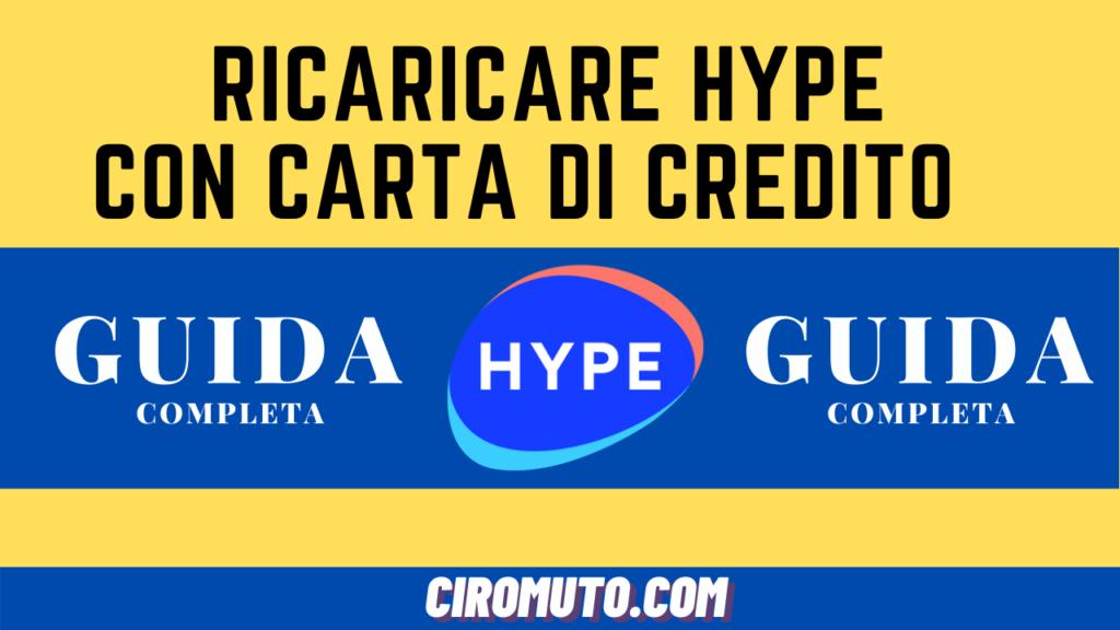 Ricaricare hype con carta di credito