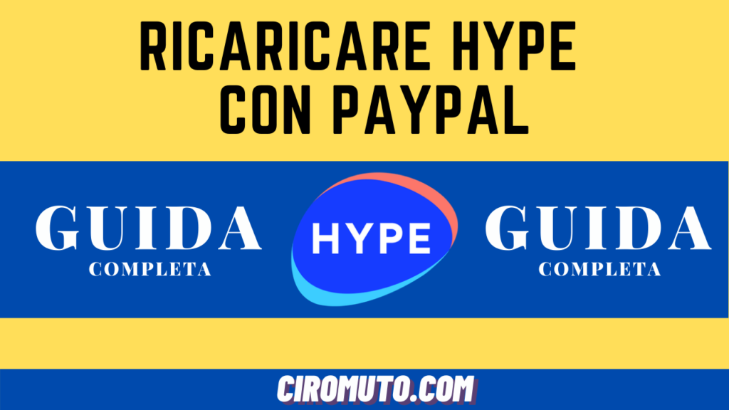 Ricaricare hype con paypal