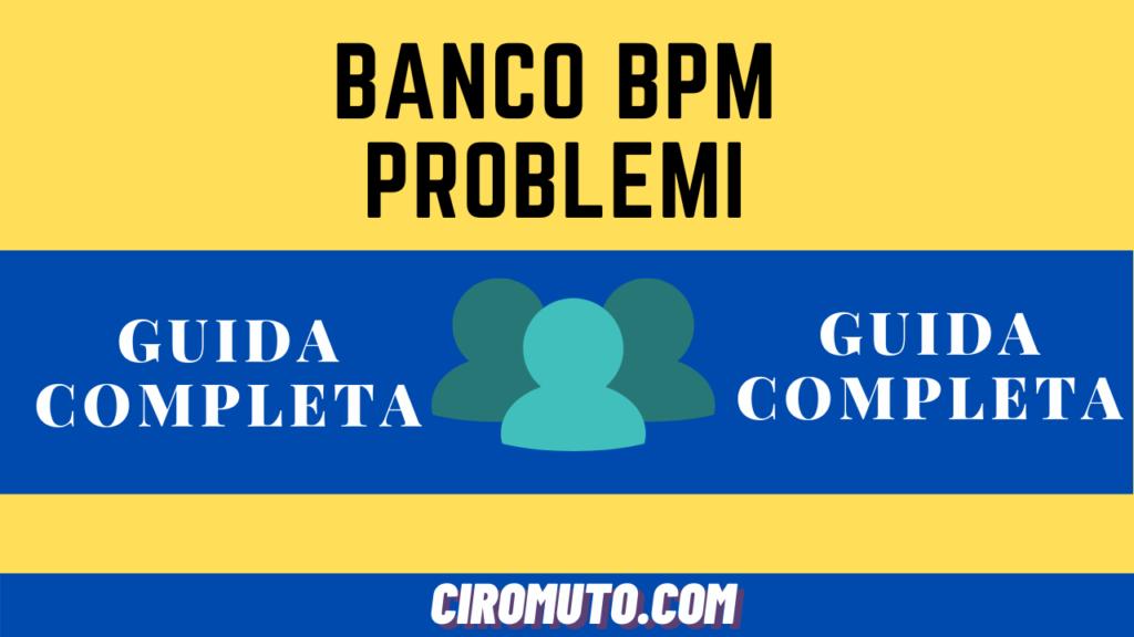 Banco bpm problemi