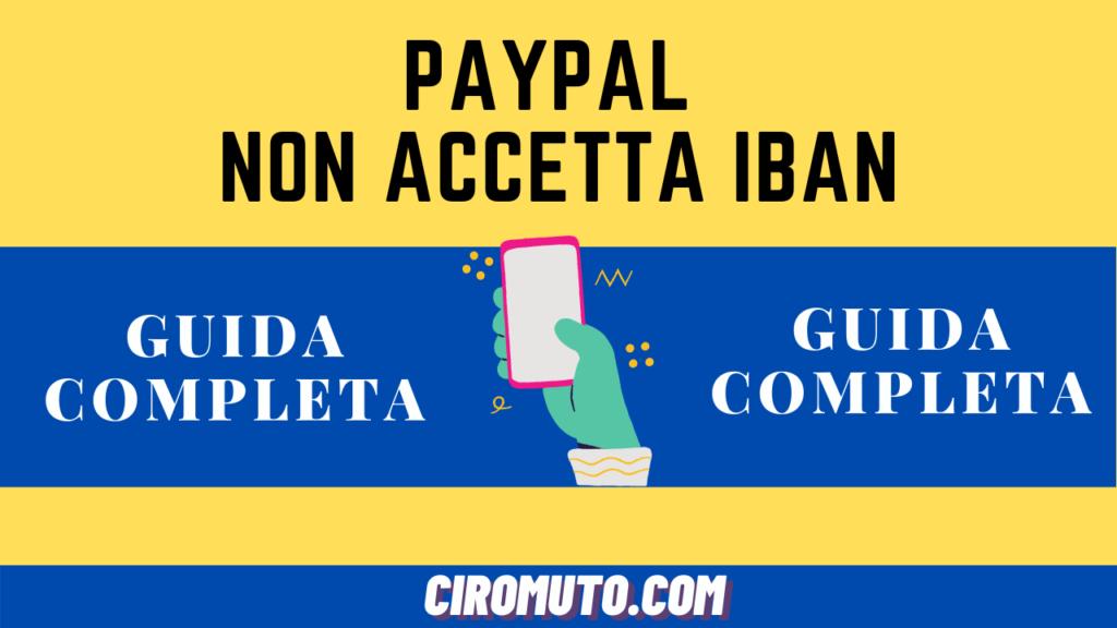Paypal non accetta iban
