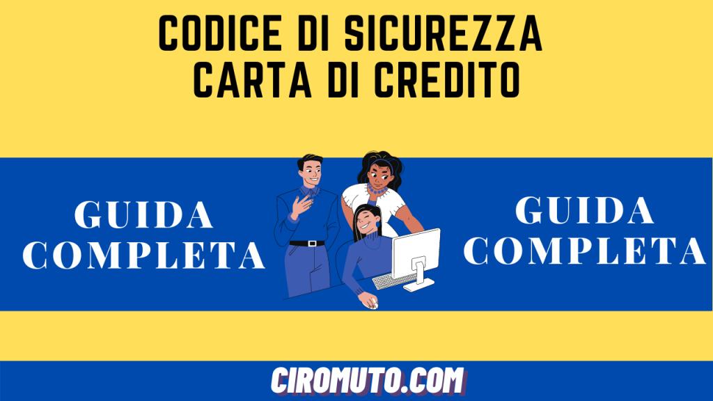 Codice di sicurezza carta di credito