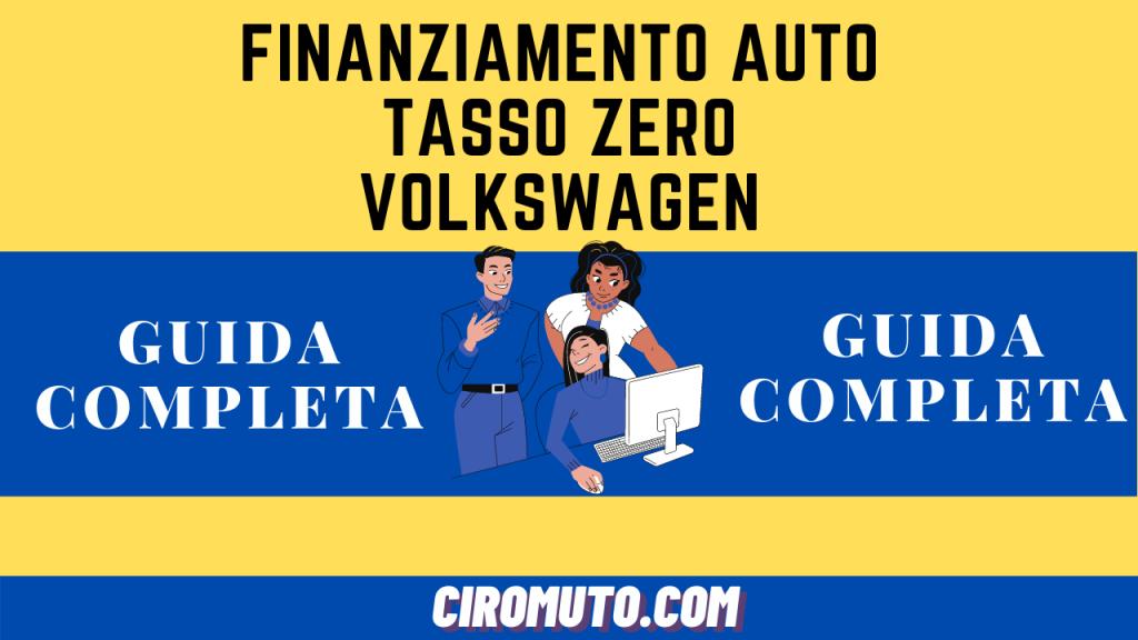 Finanziamento auto tasso zero volkswagen