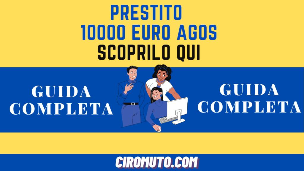 PRESTITO 10000 euro AGOS