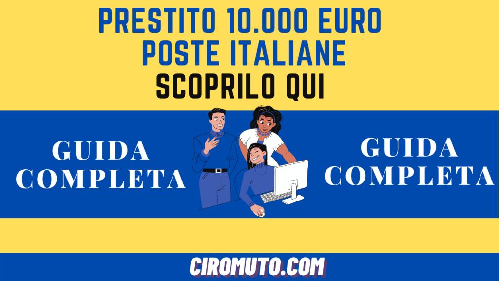 prestito 10.000 euro poste italiane
